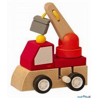 JIŽ SE NEPRODÁVÁ - Auto - Natahovací autíčko, Červený autojeřáb (Woody)