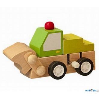 JIŽ SE NEPRODÁVÁ - Auto - Natahovací autíčko, Zelený buldozer (Woody)