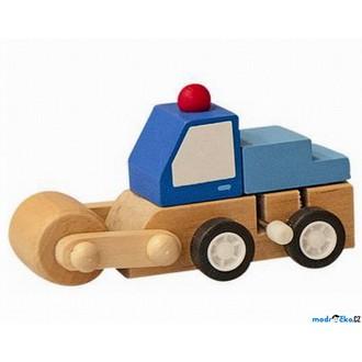 JIŽ SE NEPRODÁVÁ - Auto - Natahovací autíčko, Modré s válcem (Woody)