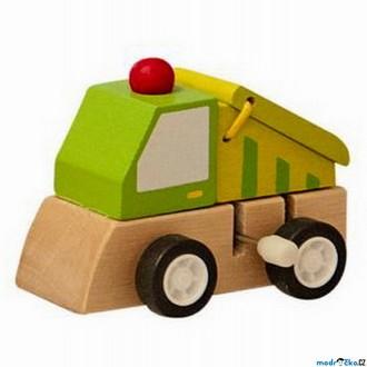 JIŽ SE NEPRODÁVÁ - Auto - Natahovací autíčko, Zelené nákladní (Woody)