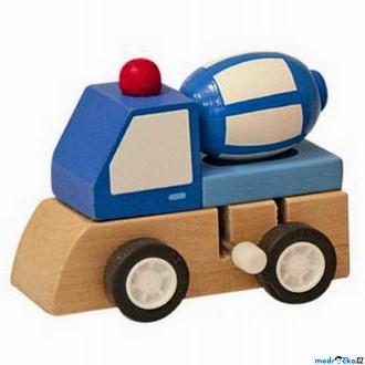 JIŽ SE NEPRODÁVÁ - Auto - Natahovací autíčko, Modrá automíchačka (Woody)