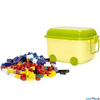 Stavebnice - Light Stax - Kiga v plastové boxu, 360 svítících kostek