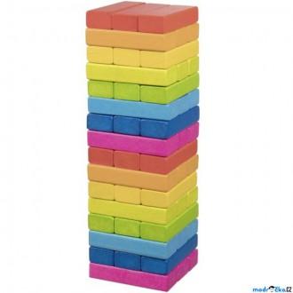 Dřevěné hračky - Jenga barevná - Duhová (Goki)