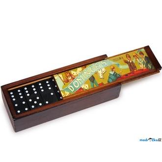 Dřevěné hračky - Domino - Klasické černé, retro balení, 28ks (Russimco)