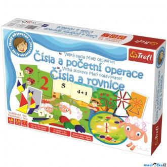 Ostatní hračky - Didaktická hra - Malý objevitel, Velká sada - Čísla a početní operace (Trefl)