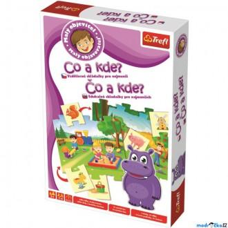 Ostatní hračky - Didaktická hra - Malý objevitel, Co a kde? (Trefl)