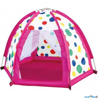Ostatní hračky - Dětský domeček - Stan barevné kuličky (Bino)