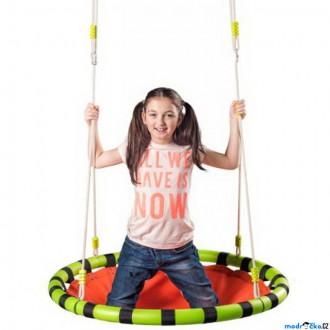 Na ven a sport - Houpačka - Houpací kruh, oranžový, průměr 103cm (Woody)