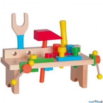 Dřevěné hračky - Malý kutil - Stůl s nářadím (Woody)