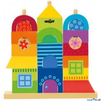 Dřevěné hračky - Skládačka - Dům Rainbow (Woody)
