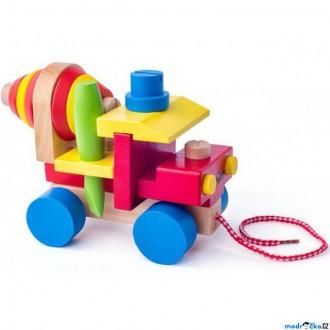 Dřevěné hračky - Auto montážní - Automíchačka (Woody)