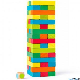 Dřevěné hračky - Jenga barevná - Společenská hra (Woody)