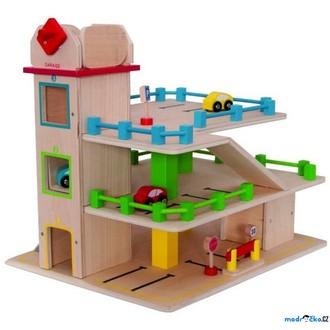 JIŽ SE NEPRODÁVÁ - Garáž dřevěná - Třípodlažní s výtahem, hranatá (Woody)