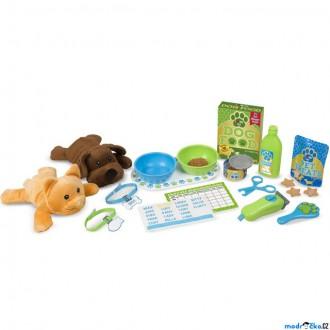 Dřevěné hračky - Plyšová hračka - Set péče o domácí mazlíčky (M&D)