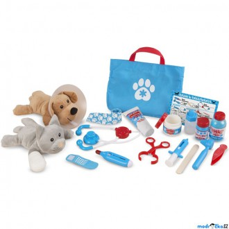 Dřevěné hračky - Plyšová hračka - Set malý veterinář (M&D)