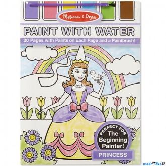 Dřevěné hračky - Omalovánky - Malování s vodou, Princezny (M&D)