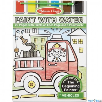 Dřevěné hračky - Omalovánky - Malování s vodou, Dopravní prostředky (M&D)