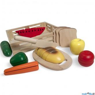 Dřevěné hračky - Krájení - Snídaně v přepravce (M&D)