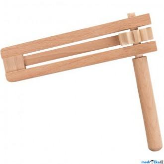 Dřevěné hračky - Hudba - Řehtačka dřevěná (Goki)