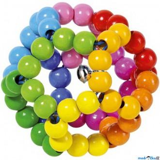 Pro nejmenší - Chrastítko - Elastické, Duhový míč (Heimess)