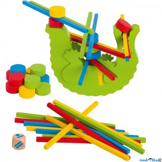 Dřevěné hračky - Motorická hra - Balanční krokodýl (Goki)