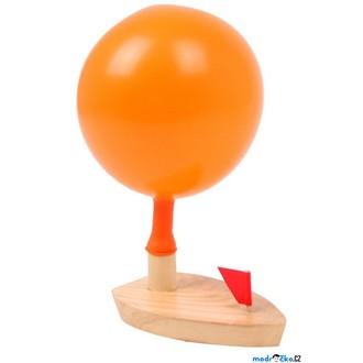 JIŽ SE NEPRODÁVÁ - Drobné hračky - Loďka s balónkovým pohonem (Legler)