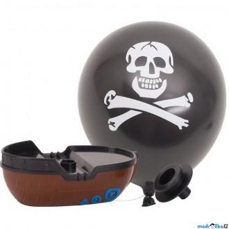 Ostatní hračky - Hračka do vody - Pirátská loďka na balónkový pohon (Goki)