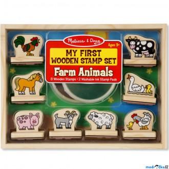 Dřevěné hračky - Razítka dřevěná - Razítka pro nejmenší, Farma (M&D)