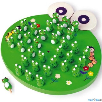 Puzzle a hlavolamy - Hlavolam dřevěný - Solitér žáby (Legler)