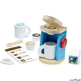 Dřevěné hračky - Kuchyň - Kávovar dětský, Set na přípravu kávy (M&D)