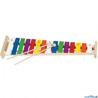Dřevěné hračky - Hudba - Xylofon 15 tónů, Kovový (Goki)