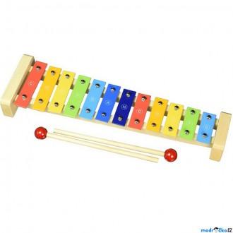 Dřevěné hračky - Hudba - Xylofon 12 tónů, Kovový (Goki)