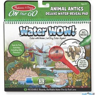 Ostatní hračky - Omalovánky - Kouzlení vodou Deluxe, Dovádění zvířátek (M&D)