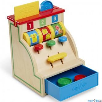 Dřevěné hračky - Prodejna - Dětská pokladna stolní dřevěná (M&D)