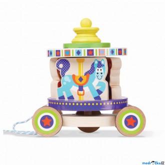 Dřevěné hračky - Tahací hračka - Kolotoč dřevěný skládací (M&D)