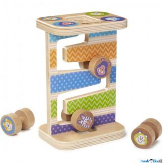 Dřevěné hračky - Tobogán - Dřevěná safari věž (M&D)
