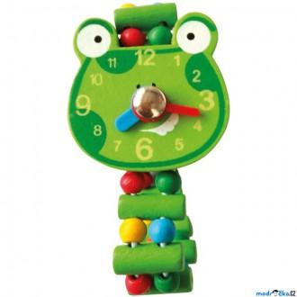 Dřevěné hračky - Dřevěná bižuterie - Hodinky žába (Bino)