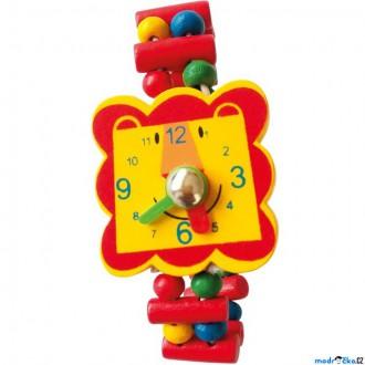 Dřevěné hračky - Dřevěná bižuterie - Hodinky lev (Bino)
