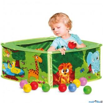 Pro nejmenší - Bazének s balónky - Zelený, 50 ks balónků (Bino)