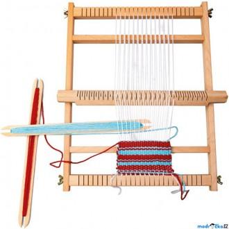 Dřevěné hračky - Tkalcovský dětský stav - Větší s vlnou (Bino)