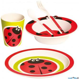 Pro nejmenší - Dětské nádobí z bambusu - Set 5 dílů, Beruška (Mertens)