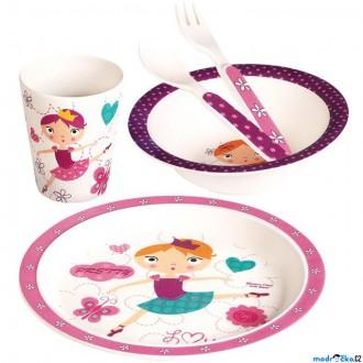 Pro nejmenší - Dětské nádobí z bambusu - Set 5 dílů, Tanečnice (Mertens)