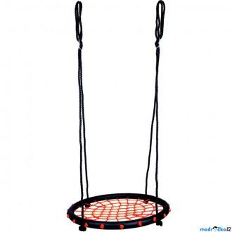 Na ven a sport - Houpačka - Houpací kruh, černý, průměr 60cm (Bino)
