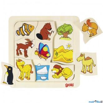 Puzzle a hlavolamy - Puzzle výukové - Kde žijí zvířátka (Goki)