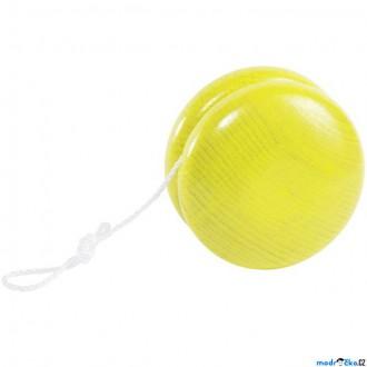 Dřevěné hračky - Drobné hračky - Jojo dřevěné, žluté (Goki)