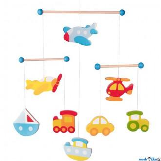 Dřevěné hračky - Kolotoč závěsný dřevěný - Dopravní prostředky (Goki)