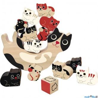 Dřevěné hračky - Motorická hra - Balancující kočičky (Vilac)