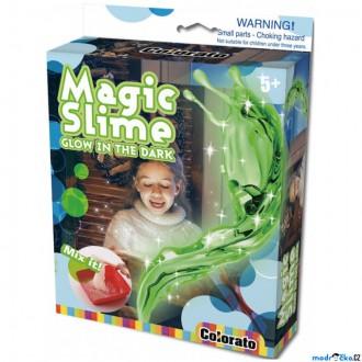 Dřevěné hračky - Výtvarná sada box - Magický sliz svítící ve tmě