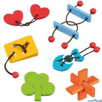 Puzzle a hlavolamy - Hlavolam dřevěný - Set 6 hlavolamů (Goki)