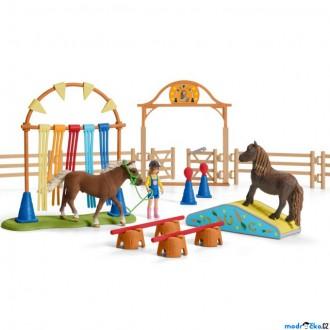 Ostatní hračky - Schleich - Jezdecký klub, Trénink v agility pro poníky